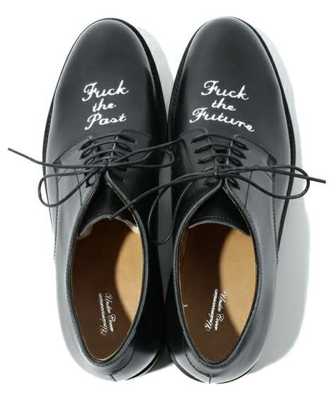 Posh Profane Footwear - Undercover 'F**K the Past, F**K the Future' Tells it Like it Is