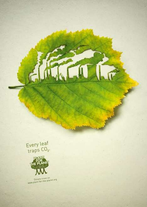 Green Canvas Campaigns - The Plant for the Planet Ads by Legas Delaney are an Eco-Friendly Reminder