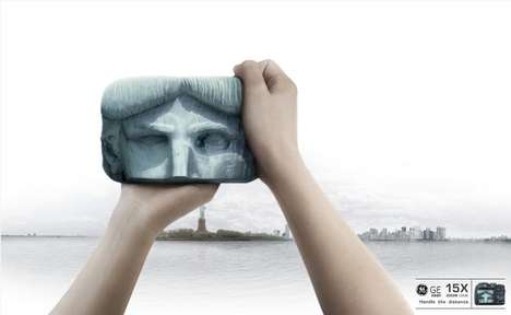 Powerful Lens Prints - The GE X500 Camera Ads by Bangkokshowcase Bring Monuments Closer