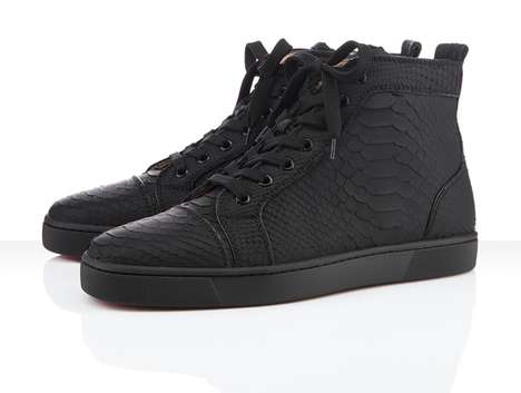 Scaly Serpentine High-Tops - The Christian Louboutin Python Sneaker Takes Style to the Wild Side