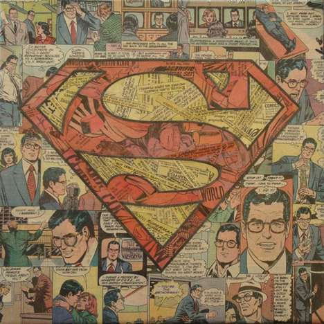 Colossal Comic Collages - Mike Alcantra Creates Artistic Superheroes With the Pages of Books