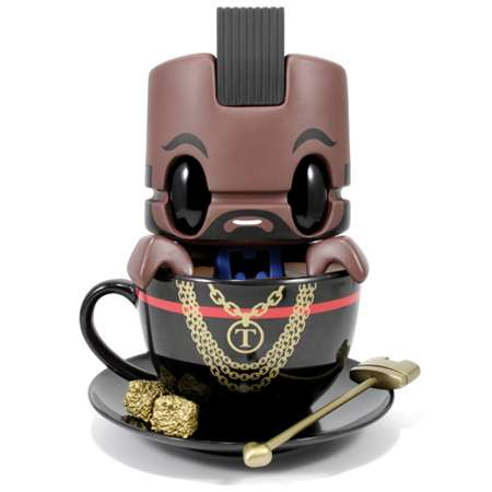 Mean Mohawked Figurines - Get Tough & Badass with the Mr. Tea Vinyl Figure