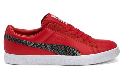 Striped Serpentine Kicks - The Undefeated x Puma Clyde Snakeskin Pack Gets a Predatory Makeover