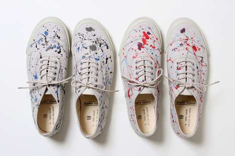Rainbow-Splattered Kicks - The N-HOOLYWOOD x Generic Surplus Collection is Stylishly Messy