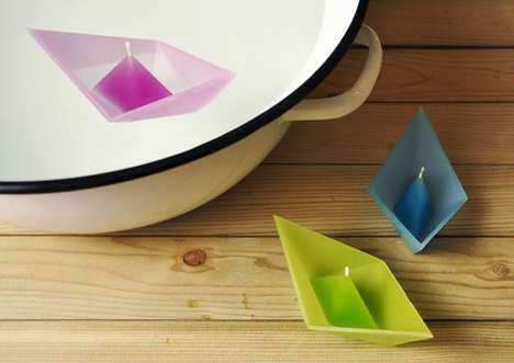 Boat-Shaped Candles - These Wax Pieces by Roman Ficek are Ready to Sail