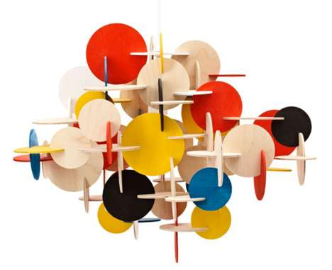 Vivacious Pendant Fixtures - The Bau Lamp Brings a Mosaic of Colors into the Home
