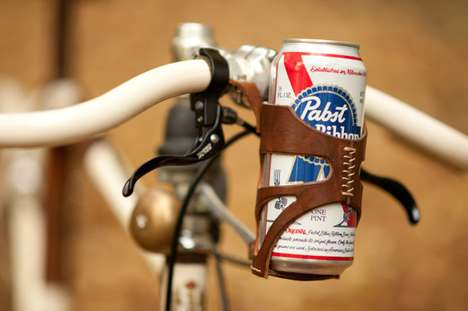 Cycling Booze Chambers - The Bicycle Can Cage Stores a Brew for the Road