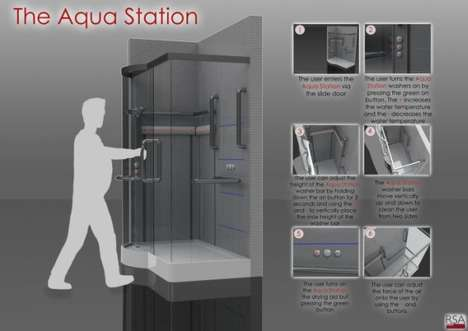 Smart Shower Systems - The Aqua Station by David John is Designed to Help the Elderly and Obese