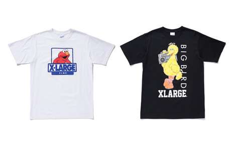 Marvelous Muppet Tees - Sesame Street x XLarge Collection Brings the Whimsical Characters to Fashion