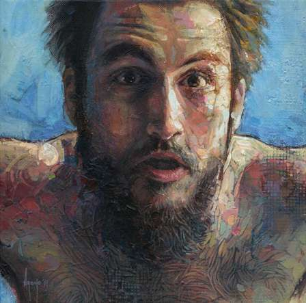 Upcycled Canvas Portraits - The Paintings of David Agenjo Fuse the Old with the New