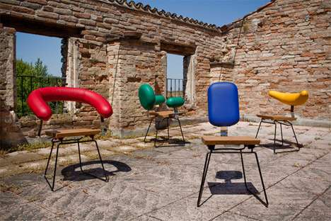 Color-Blocked Compact Chairs