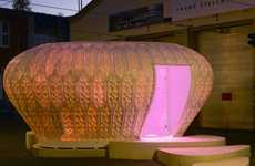 Phytoplankton-Inspired Pavilions - The Cocoon_FS is a Portable Structure for PlanktonTech