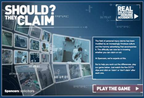 Interactive Injury Games - Spencers Solicitors Launches Game Called 'Should They Claim?'