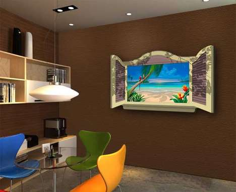 Illusionary TV Frames - ArtMotion Turns Televisions Into Windows