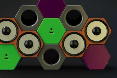 Modular Honeycomb Amps