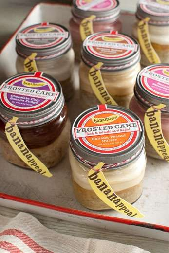 Mason Jar Cakes - The Bananappeal Desserts are Poshly Packaged and Flawlessly Frosted