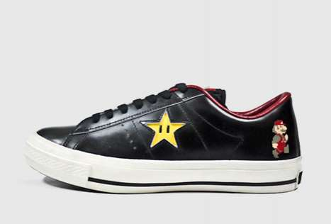 Pixelated Plumber Game Kicks - Converse One Star Super Mario Bros OX Stylizes Vintage Nintendo