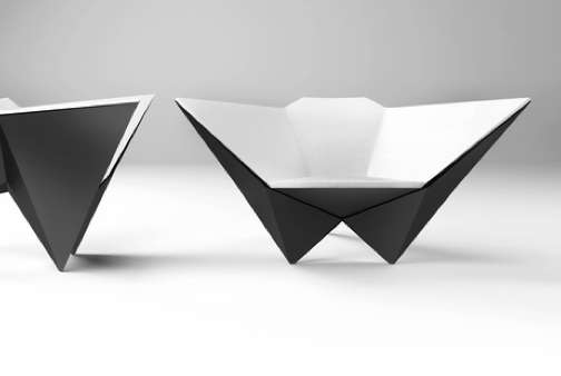 Origami-Inspired Seating