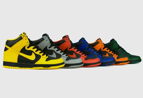 Chromatic College Hoop Kicks - Nike Dunk High 'March Madness' Celebrates the NCAA