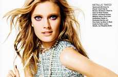 Icy Pastel Captures - The Constance Jablonski Allure Photo Shoot is Elegantly Chic