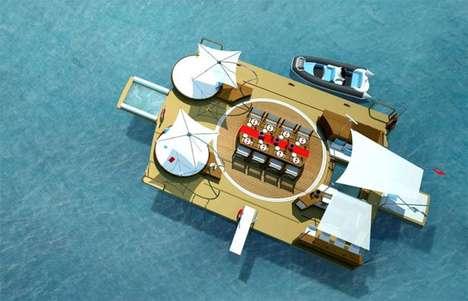 Folding Aquatic Party Platforms
