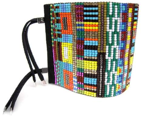 Colorfully Beaded Cuffs - Julie Rofman Jewelry Creates Stunning Handwoven Bracelets