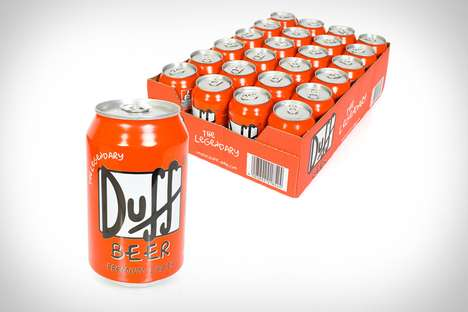 Canned Cartoon Lagers - Duff Beer Brings the Booze of Choice from Springfield to the Home