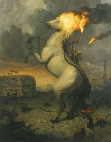 Ignited Animal Illustrations