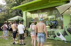 Interactive Branded Photo Booths - V Energy 'Power Wall' Offers Engaging Experience to Music Fans