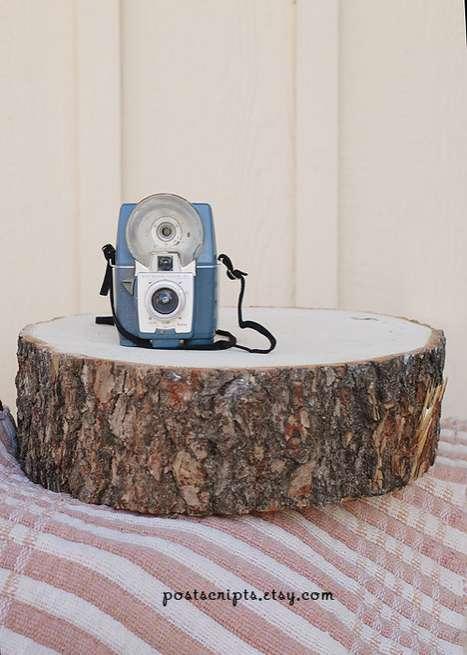 Tree Stump Cake Stands