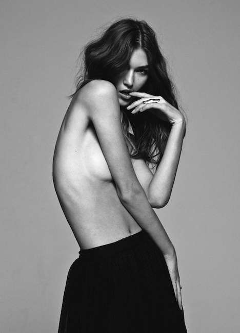 Suggestive Long-Haired Lookbooks