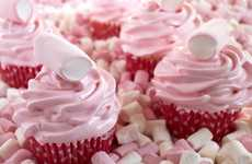 Candy Land Confections - These Cloud Cupcakes by the 'IFeelCook' Blog are Painfully Pretty in Pink