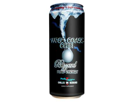 Self-Cooling Energy Drinks - West Coast Chill by the Joseph Company is an Icy Product Idea
