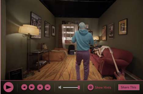 Zoomable Music Videos - The Red Hot Chili Peppers 'Look Around' Video is a Personalized Adventure