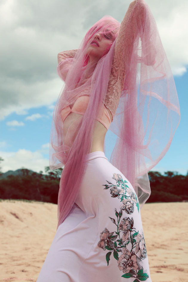Pink-Haired Beach Campaigns
