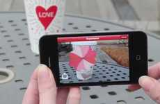 Augmented Reality Romance Apps - Starbucks Valentine's Day Cup Magic Helps You Spread the Love