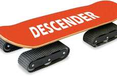 Tank Tread Skate Decks - The Rockboard Descender is Designed to Traverse Any and All Terrain