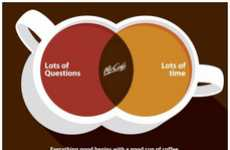 Caffeinated Venn Diagram Ads - The McDonald's McCafe Campaign is Visually Minimalist