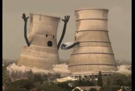 Collapsing Cooling Towers is a Sight of Devastating Demolition