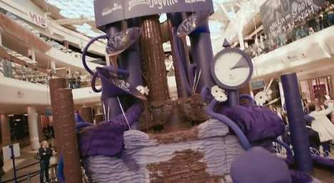 Imaginary Chocolate Lands - Cadbury's Joyville Promotes the New Dairy Milk Bubbly