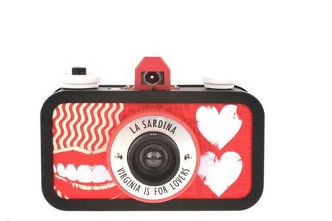 Love-Day Lomography Cameras - Capture Valentine's Day with the La Sardina 'Virginia is for Lovers'