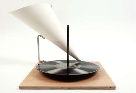 Paper Record Players