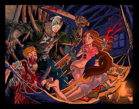 Chilling Horror Film Cartoons