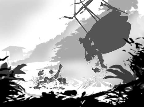 Action-Packed Archaeologist Silhouettes