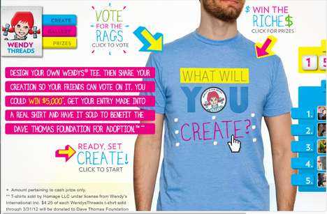 Crowdsourced Fast Food Tees - You Could Win $5,000 With Wendy Threads T-Shirt Design Contest