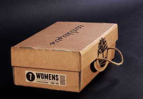 Eco-Friendly Folding Packaging - Timberland Earthkeepers Shoebox Encourages Reuse