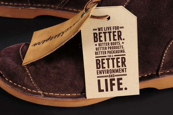 Eco Friendly Folding Packaging : Timberland Earthkeepers Shoebox