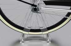 Barely There Bike Racks - The Vanmoof Ghost Bicycle Stand Does Not Detract from Your Two-Wheeler