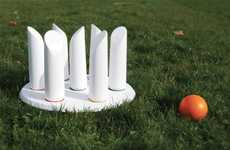 Bobbling Outdoor Bowling - B-Round Reinvents Toppling Pins for a Grass-Friendly Game