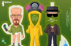 Leading Man Paper Figurines - The Limited Edition Breaking Bad and Mad Men Doll Sets by Trimdoll
